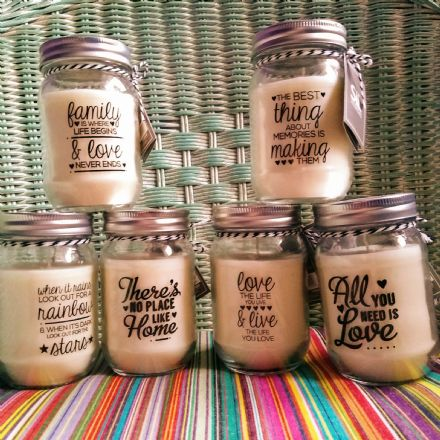 50% off Inspiring Slogan candle Jars